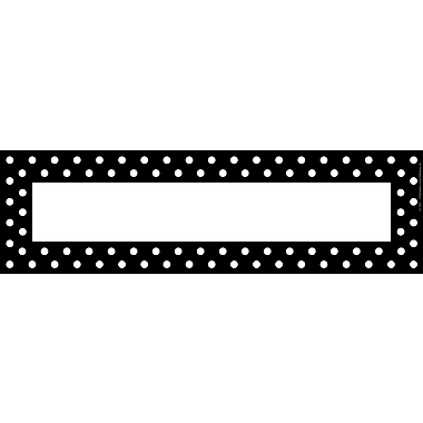 Barker Creek Black and White Dot Desk Tag, 12in. L x 3 1/2in. W