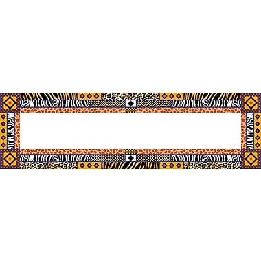 Barker Creek Africa Desk Tag, 12in. L x 3 1/2in. W