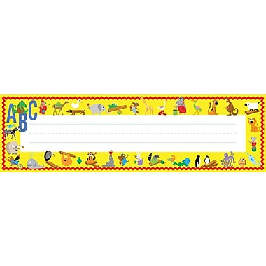 Barker Creek ABC Animals Desk Tag, 12in. L x 3 1/2in. W