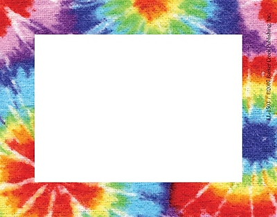 Barker Creek Tie dye Name Tag 3 1 2 W x 2 3 4 D