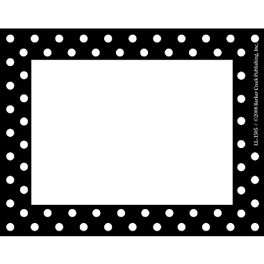 Barker Creek Black and White Dot Name Tag, 3 1/2in. W x 2 3/4in. D