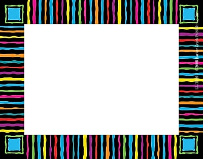 Barker Creek Neon Stripes Name Tag 3 1 2 W x 2 3 4 D