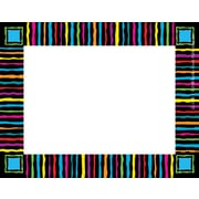 "Barker Creek Neon Stripes Name Tag, 3 1/2"" W x 2 3/4"" D"