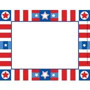 "Barker Creek Americana Name Tag, 3 1/2"" W x 2 3/4"" D"