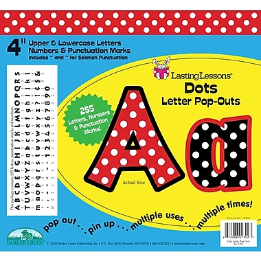 Barker Creek Dots 4in. Letter Pop Out, All Age
