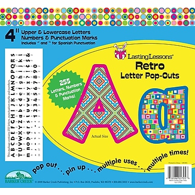 Barker Creek Retro 4in. Letter Pop Out, All Age