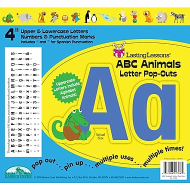 Barker Creek ABC Animals 4in. Letter Pop Out, All Age