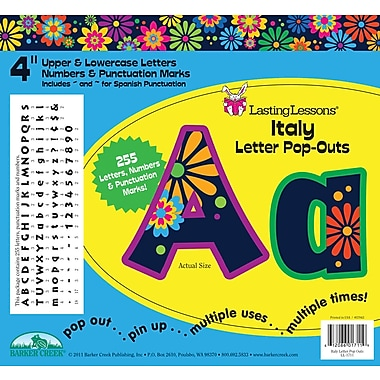 Barker Creek Italy 4in. Letter Pop Out, All Age