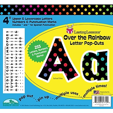 Barker Creek Over the Rainbow 4in. Letter Pop Out, All Age