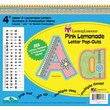 "Barker Creek Pink Lemonade 4"" Letter Pop Out, All Age"