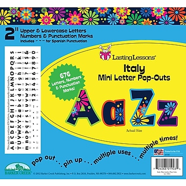 Barker Creek Italy 2in. Letter Pop Out, All Age