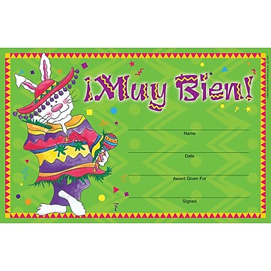 Barker Creek Muy Bien Award, 8 1/2in. x 5 1/2in.