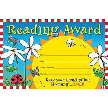 Barker Creek Reading Award, 8 1/2in. x 5 1/2in.
