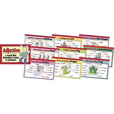 Barker Creek Adjectives Chart Set, 17