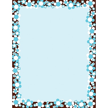 Barker Creek Hot to Dot Bloom Stationery Decorative Paper 8.5in. x 11in., Blue (LL726)