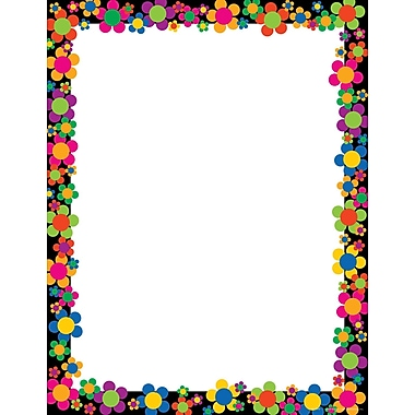 Barker Creek Neon Flower Stationery