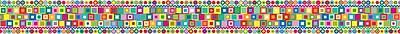 Barker Creek LL 942B 35 x 3 Straight Patterns Retro Border Multicolor
