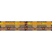 "Barker Creek LL-943B 35"" x 3"" Straight Africa Double Sided Trim, Multicolor"