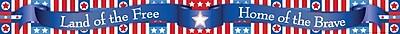 Barker Creek LL 950B 35 x 3 Straight Patriotic Americana Say It Border Multicolor