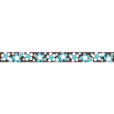 Barker Creek LL-952B 35in. x 3in. Straight Flowers Hot to Dot - Blooms Border, Multicolor