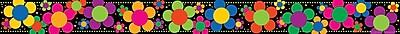Barker Creek LL 957B 35 x 3 Straight Neon Flower Power Border Multicolor