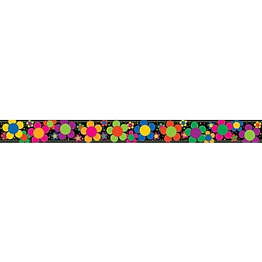 Barker Creek Neon Flower Power Border, 35in. L x 3in. W