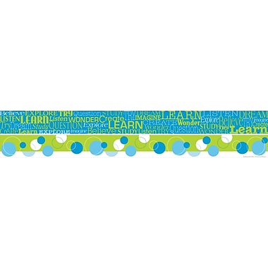 Barker Creek Word Wall - Learn Double Sided Trim, 35in. L x 3in. W