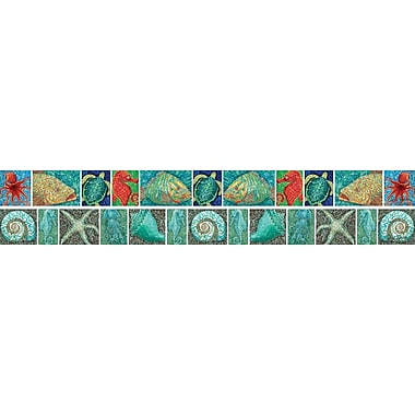 Barker Creek Surf's Up! Coral Reef Double Sided Trim, 35in. L x 3in. W