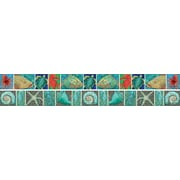 "Barker Creek LL-967 35"" x 3"" Straight Surf's Up Coral Reef Double Sided Trim, Multicolor"