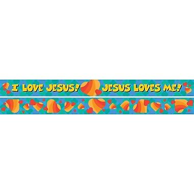 Barker Creek Jesus Loves Me Double Sided Trim, 35in. L x 3in. W