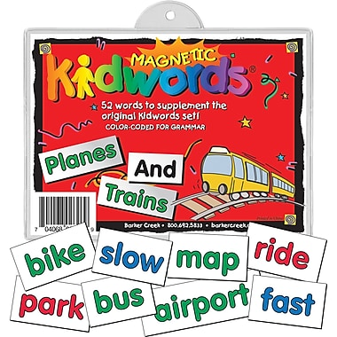 Magnetic Kidwords® Plane and Train, 4+ Age