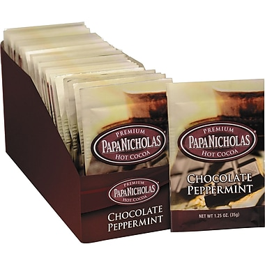 Papa Nicholas Premium Hot Cocoa, Chocolate Peppermint, 1.25 oz., 24 Packets