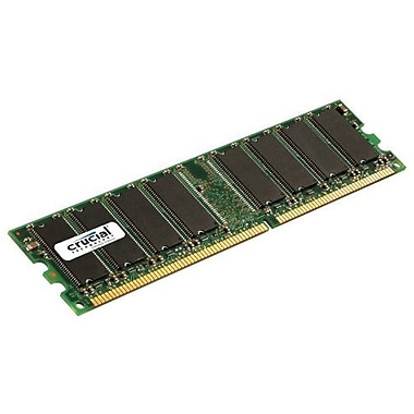 Crucial 1GB (1 x 1GB) DDR (184-Pin SDRAM) DDR 400 (PC 3200) Universal Desktop Memory