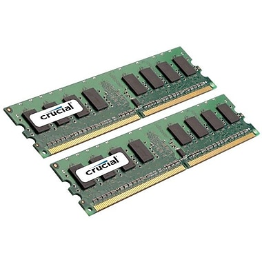 Crucial Technology – Mémoire d'ordinateur de bureau CT2KIT25664AA667 DDR2 (DIMM à 240 broches) de 4 Go