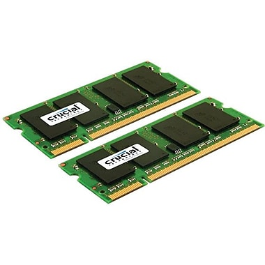 Crucial 4GB (2 x 2GB) DDR2 (200-Pin SO-DIMM) DDR2 800 (PC2 6400) Universal Laptop Memory