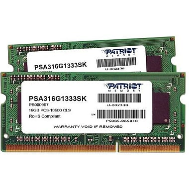Patriot MAC Series 16GB (2 x 8GB) DDR3 (204-Pin SO-DIMM) DDR3 1333 (PC3 10600) Apple Desktop Memory