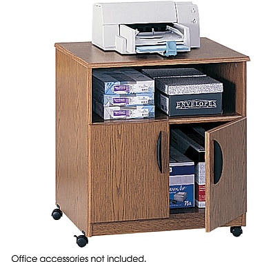 Safco® 1850 Medium Oak Mobile Machine Stand