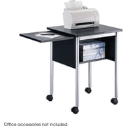 Safco® 1873 Machine Stand With Slide-away Shelf, Black