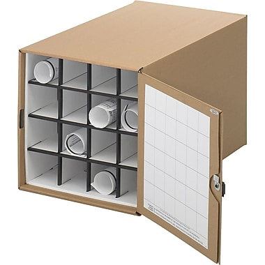 Safco® 3051 Roll File Corrugated Roll File, Tropic Sand, 16 Compartment