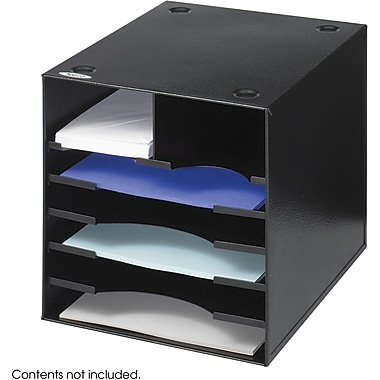 Safco® 3111 Desktop Organizer, Black, 7 Compartments