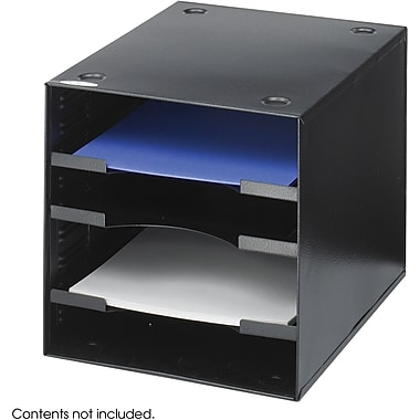 Safco® 3112 Desktop Organizer, Black, 4 Compartments
