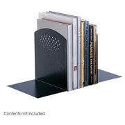 Safco® 3115 Jumbo Perforated Bookends, Black