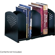 Safco® 3116 Adjustable Steel Book Rack, Black