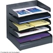 Safco® 3127 Black Desk Tray Sorter, 5 Compartments
