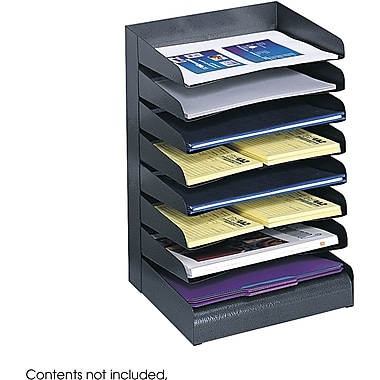 Safco® 3129 Black Desk Tray Sorter, 8 Compartments