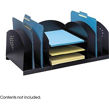 Safco® 3168 Black Combination Desk Rack, 3 Horizontal and 6 Upright