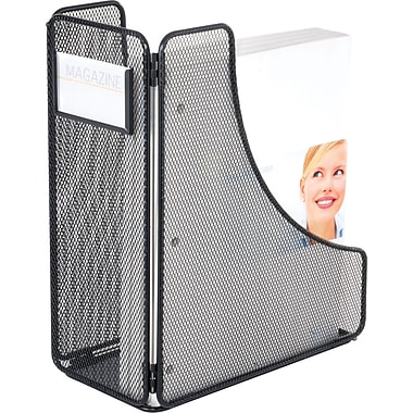 Safco® Onyx™ 3270 Mesh Magazine Holder, Black