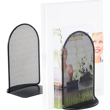 Safco® Onyx™ 3273 Perforated Bookends, Black
