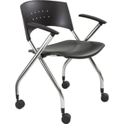 Safco® 3480 Steel and Plastic Nesting Chair, Black