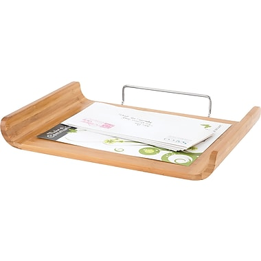 Safco® 3640 Bamboo Single Tray, Natural